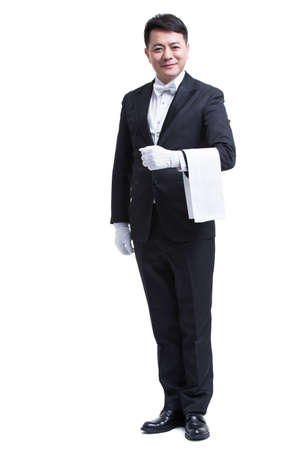 Portrait of male butler