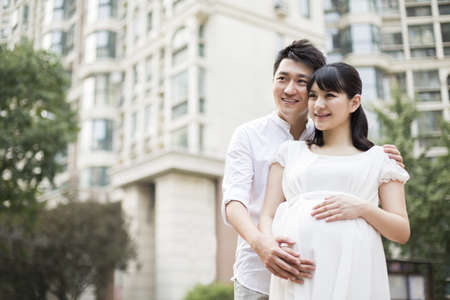 Pregnant woman and her husband
