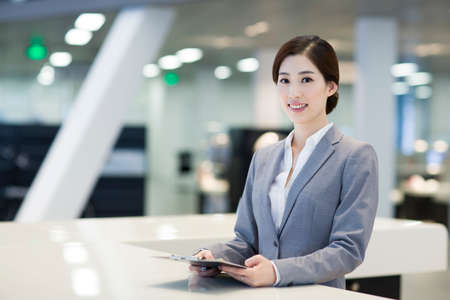 looking for job: Confident receptionist at reception counter