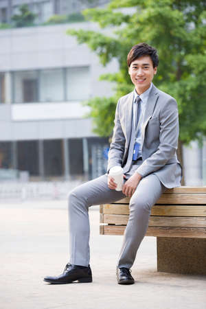 cardkey: Portrait of young businessman