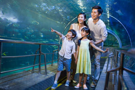 living organism: Young family in aquarium LANG_EVOIMAGES
