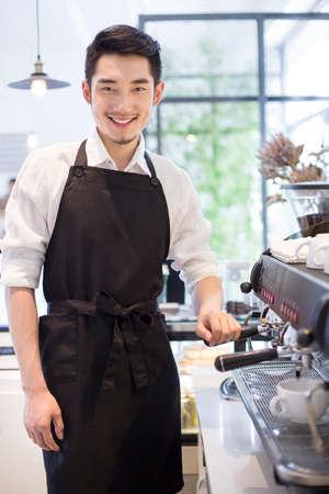 Portrait of barista
