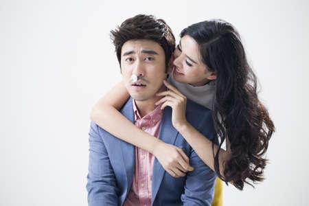 footsie: Humorous young couple