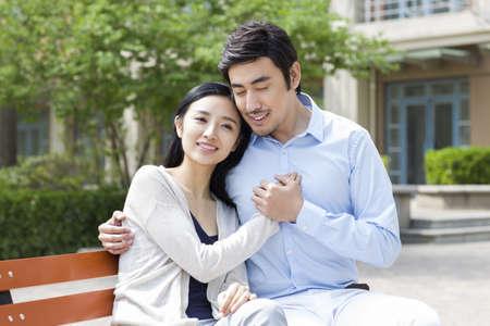 legs around: Happy young couple