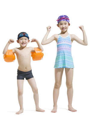 Cute children in swimsuit LANG_EVOIMAGES
