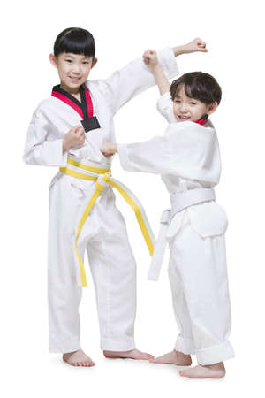 Cute children practicing Tae Kwon Do LANG_EVOIMAGES
