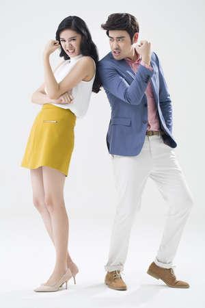 Humorous young couple