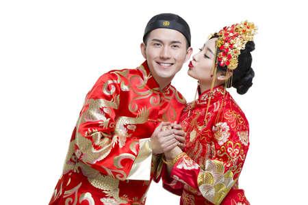 tang: Happy bride and groom LANG_EVOIMAGES