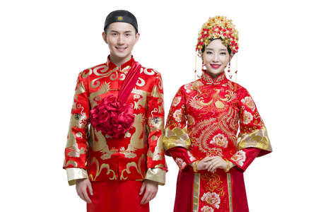 Happy bride and groom LANG_EVOIMAGES
