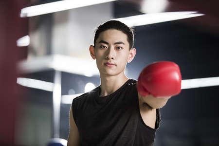 iluminado a contraluz: Retrato de boxeador