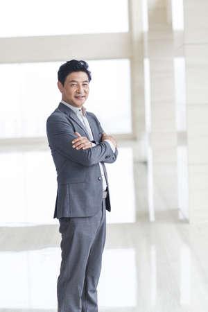 one man only: Portrait of confident businessman