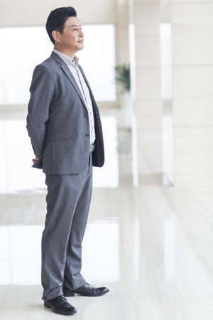 one man only: Confident businessman