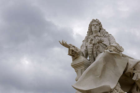 chantilly: Statue of Lenotre at Chantilly Castle, France LANG_EVOIMAGES
