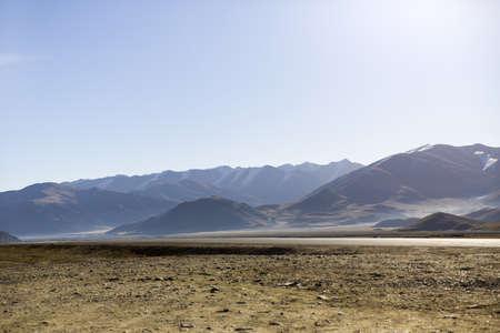 detritus: View of mountain in Tibet, China LANG_EVOIMAGES