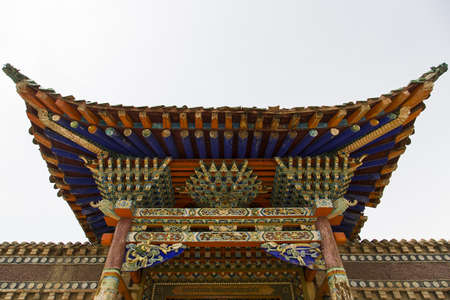 rou: A Rou Big Temple in Qinghai province, China