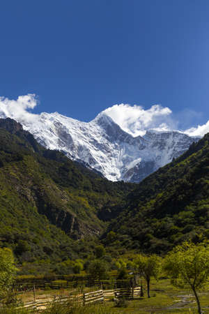 plateau: Nanjiabawa mountain in Tibet, China