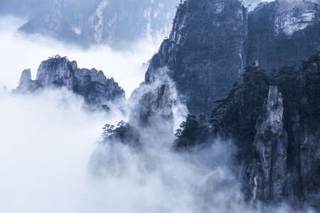 Mt Huangshan in Anhui province,China