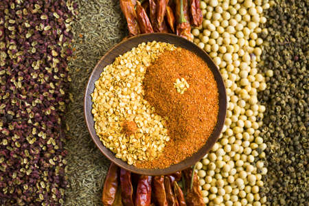Various seasonings in tai chi shape