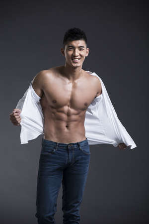 metrosexual: Portrait of young muscular man