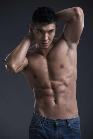 metrosexual: Young muscular man