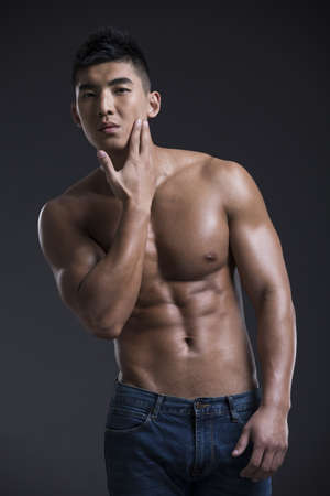 Portrait of young muscular man