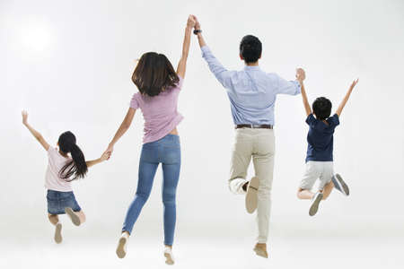 Cheerful young family