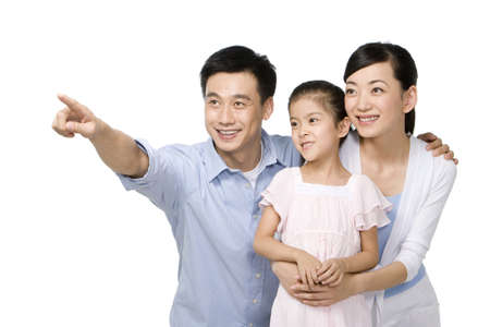 three generation: Portrait of a young family