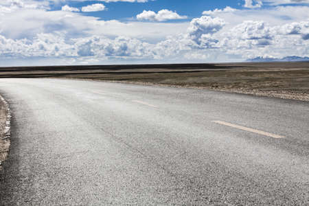 swerving: Road, Qinghai Province