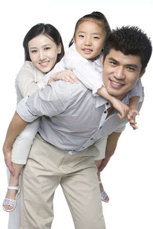 one parent: Portrait of a family of three