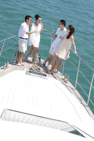 Friends Relaxing on a Yacht