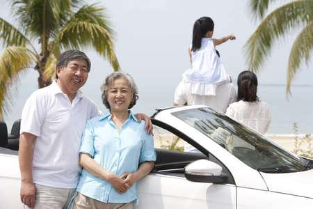 Happy Senior Couple with Family