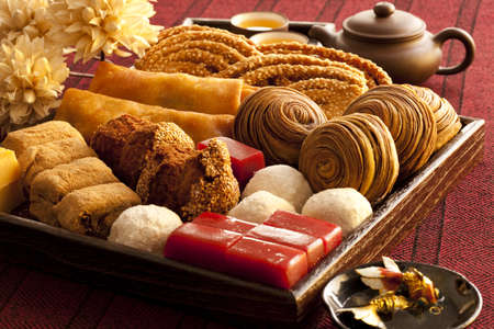 Various kinds of Chinese traditional food