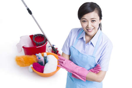 Janitorial staff cleaning