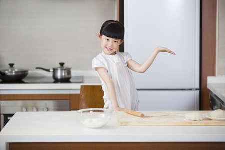 pin board: Cute girl rolling out dough