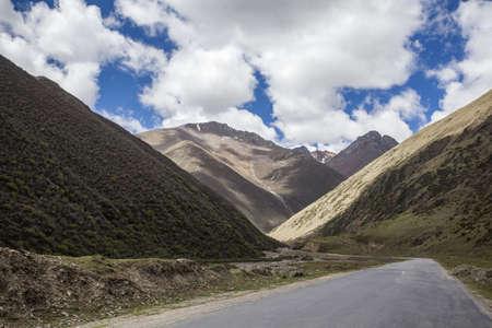 detritus: Road in Tibet, China