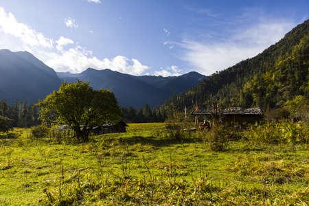 tibetan house: Nanyi valley in Tibet, China LANG_EVOIMAGES