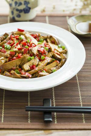 Chinese cuisine fried tofu