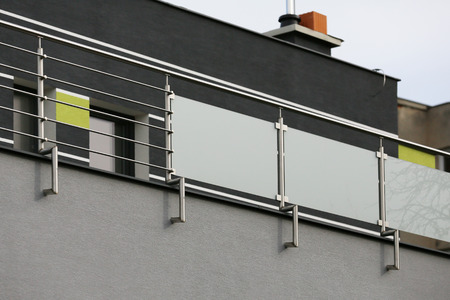 Railing with Rococo shapes in a new stainless steel style