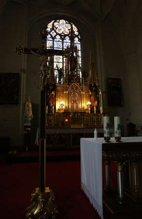 The interior of the God's house for faithful Catholics