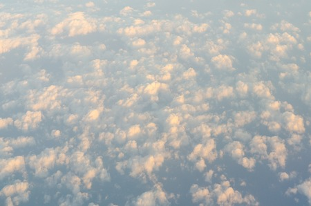 Above the cloud view from airplane photo