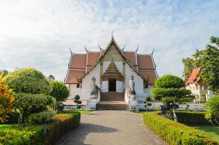 lanna: Wat phumin famous lanna style temple at nan province thailand