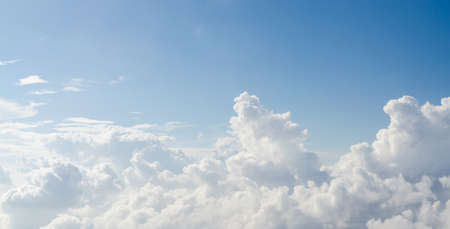 large formation: Cloud and blue sky view from airplane Stock Photo