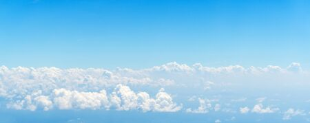Cloud and blue sky view from airplane Stock Photo