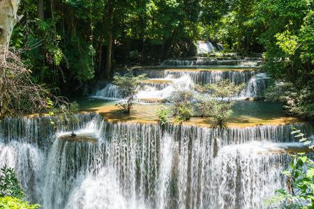 khamin: Huay mae kamin waterfall in khuean srinagarindra national park at kanchanaburi thailand