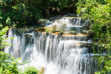 khamin: Huai mae khamin waterfall in khuean srinagarindra national park at kanchanaburi thailand Stock Photo