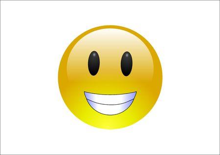 emote: Aqua Emoticons - Grin Stock Photo