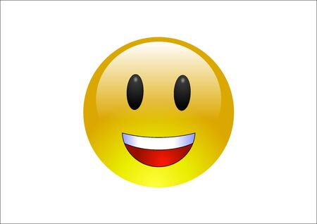 yellow teeth: Aqua Emoticons - Laugh