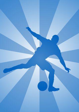 striker: Stricker silhouette 1d [alternate] - kicking a soccer ball