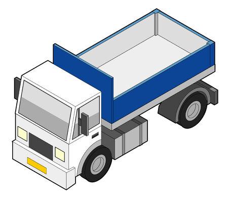 dumper: Isometric Vector Dumper Truck [Empty]