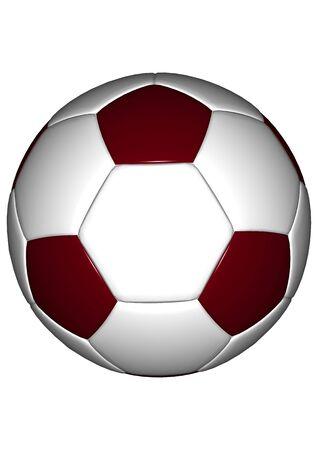alt: Football [alt] Red isolated on white background